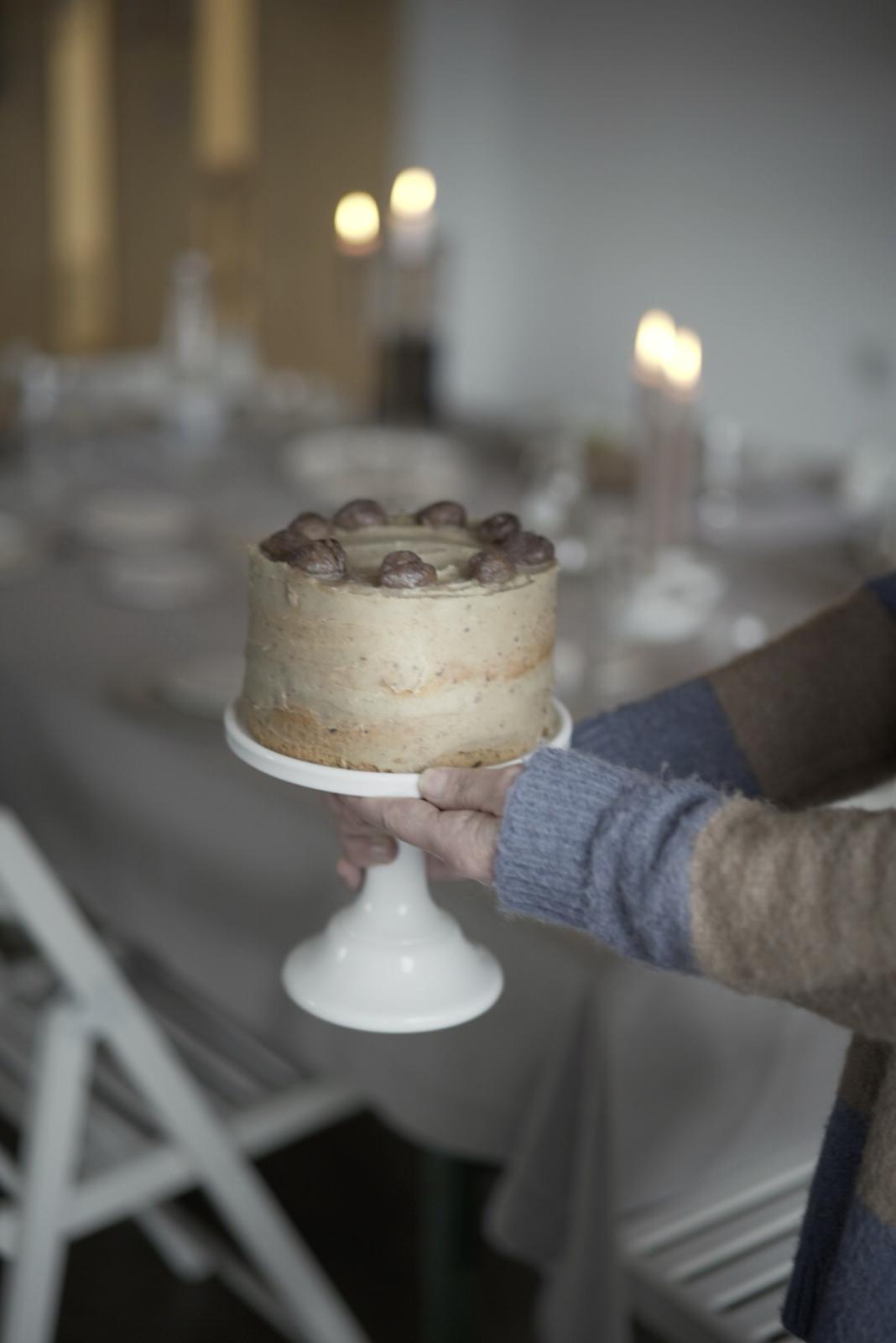 coffee and chestnut vegan cake