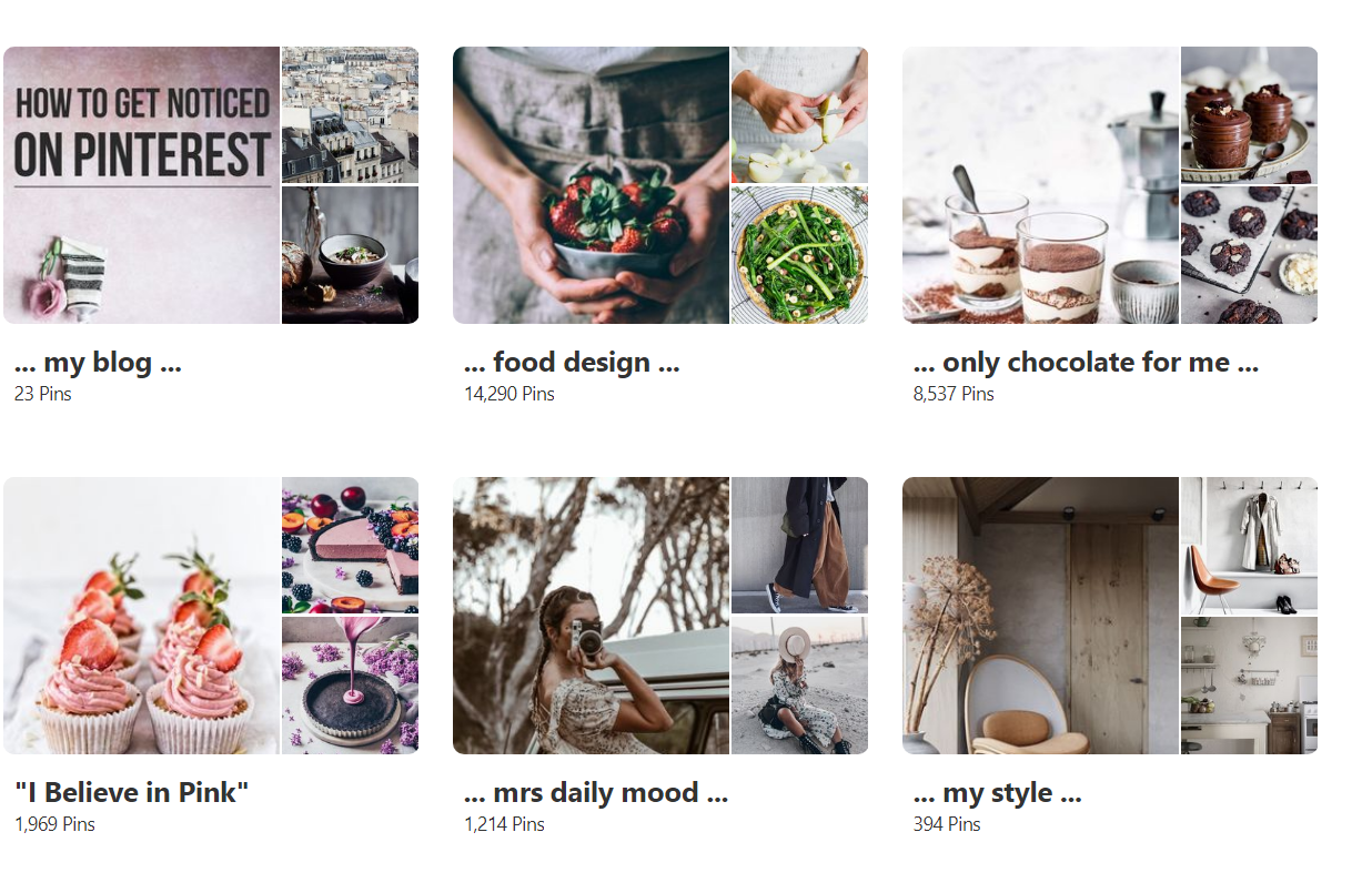 ... my Pinterest boards ...