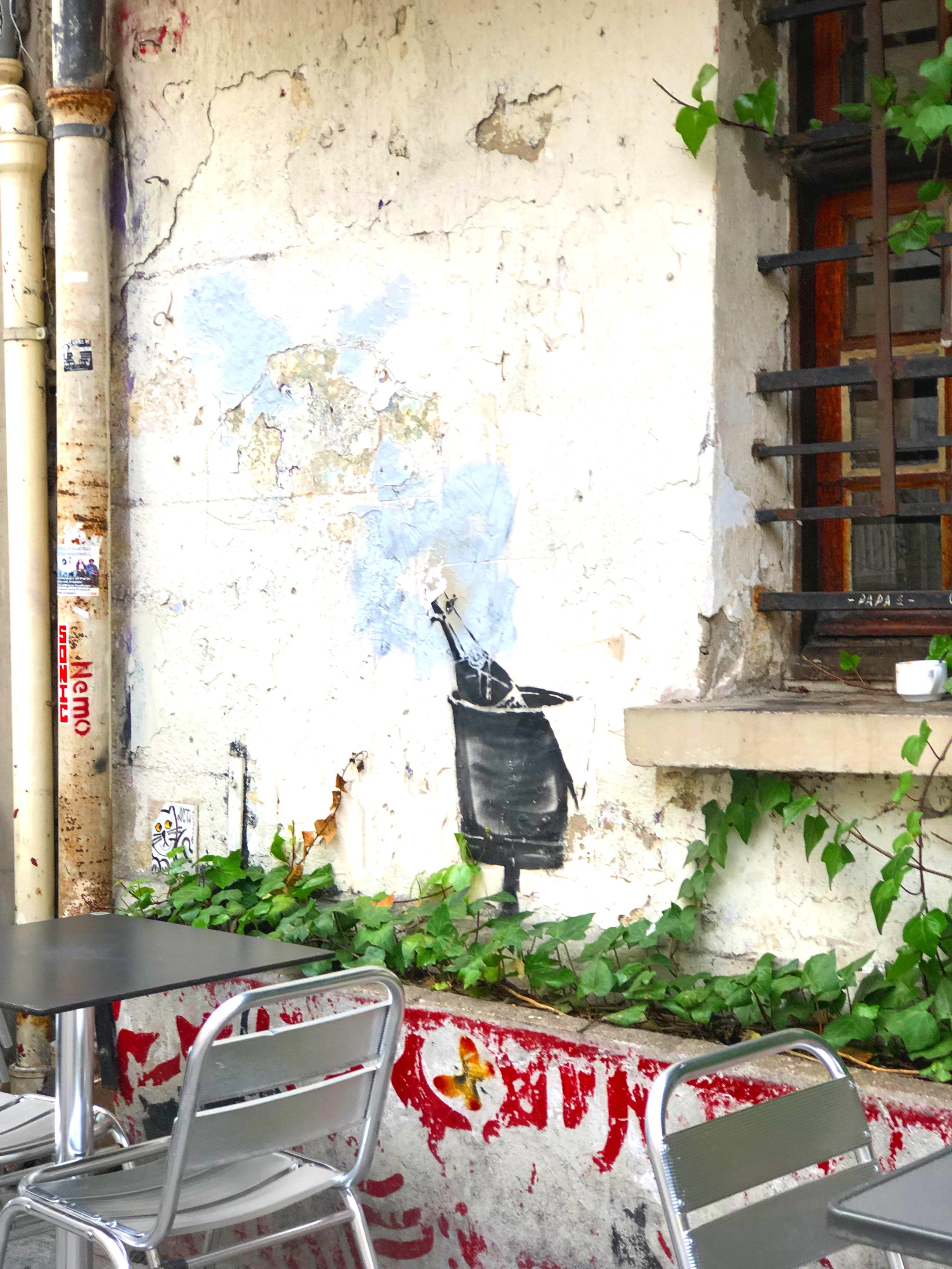 Banksy en Paris, circa janvier 2019.