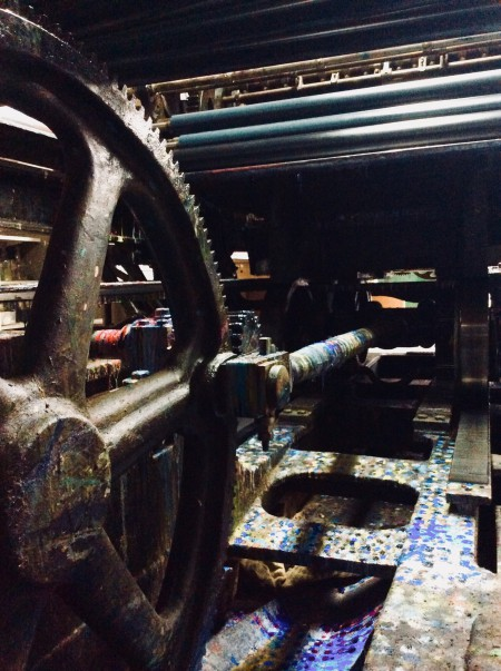 Mathilde's lithography printing press.