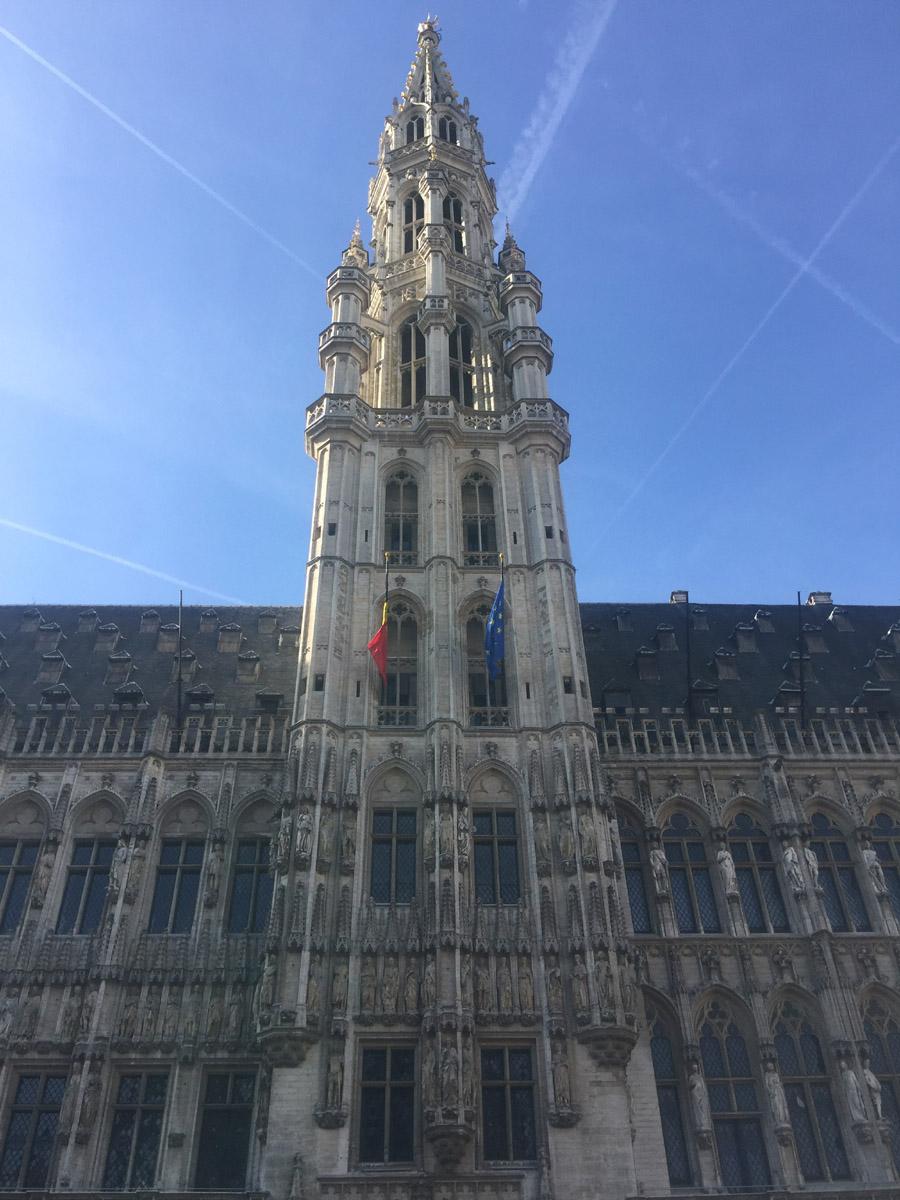 A tidbit of the magnificent Grand Place : L'Hôtel de Ville de Bruxelles (The City Hall of Brussels)