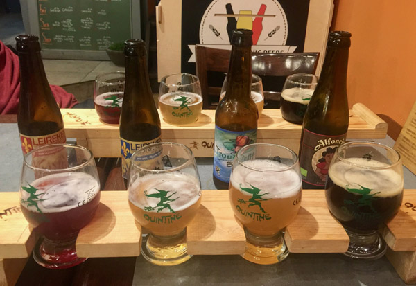 Delicious, organic, fruity beer flights at The Sisters.