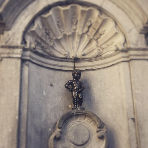 No trip to Brussels would be complete without visiting the tiny manneken pis!
