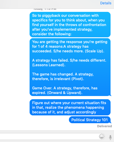 The follow-up text with my client earlier.