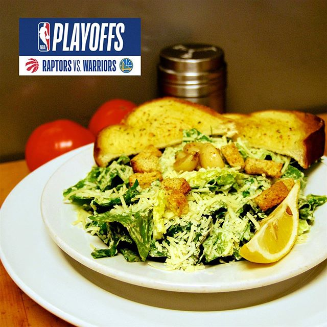 Get ahead of the game like the @raptors with our legendary Caesar salad. Come in and watch tonight's game with us at 6 PM at Moose n' Eddies - Pub and Grill! . . #mooseneddies #pub #pubfood #powellriver #familyfun #drinks #beer #specials #sunshinecoastbc #sports #nba #playoffs #nbafinals #torontoraptors #goldenstatewarriors