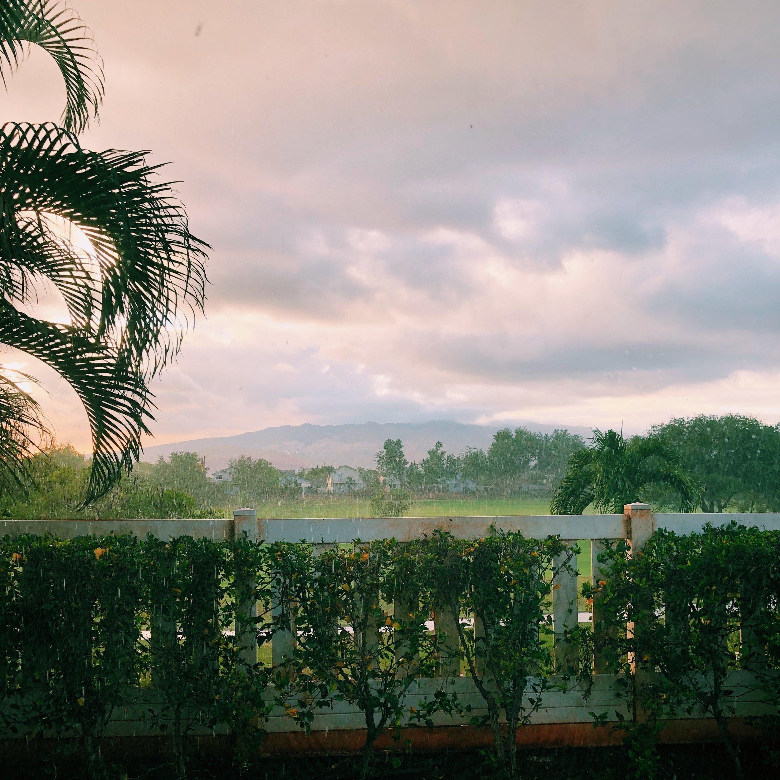 Beautiful Rain in the Sunshine