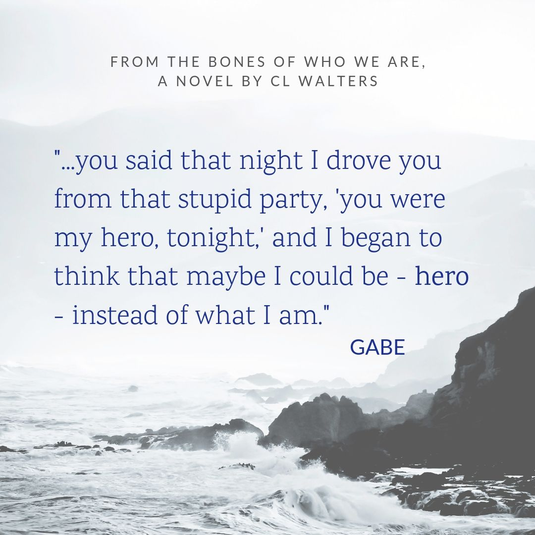 This quotation inspires the poem Gabe gives Abby in Swimming Sideways