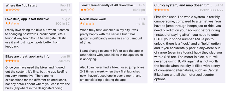 Reviews are from Apple App Store