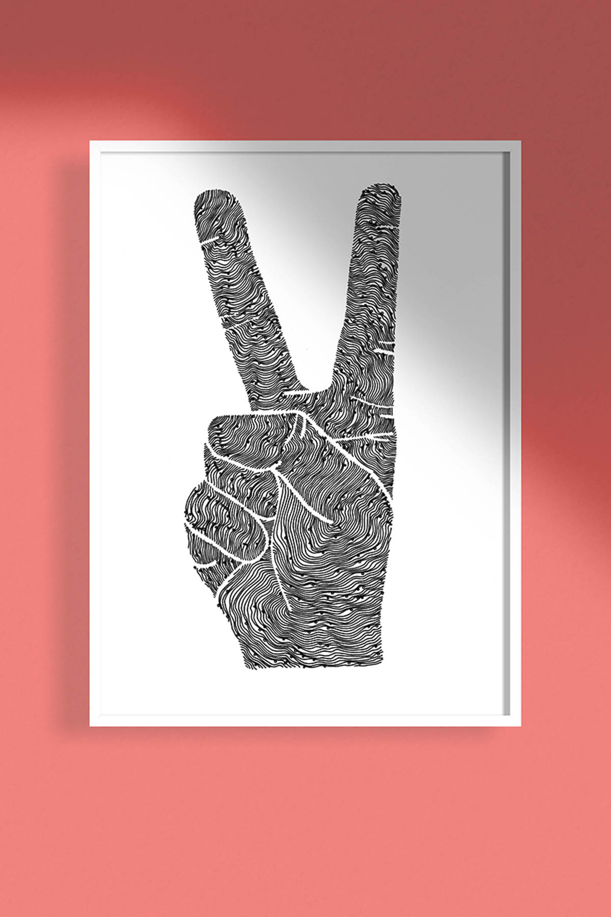 Peace Sign Hand Illustration Printable -