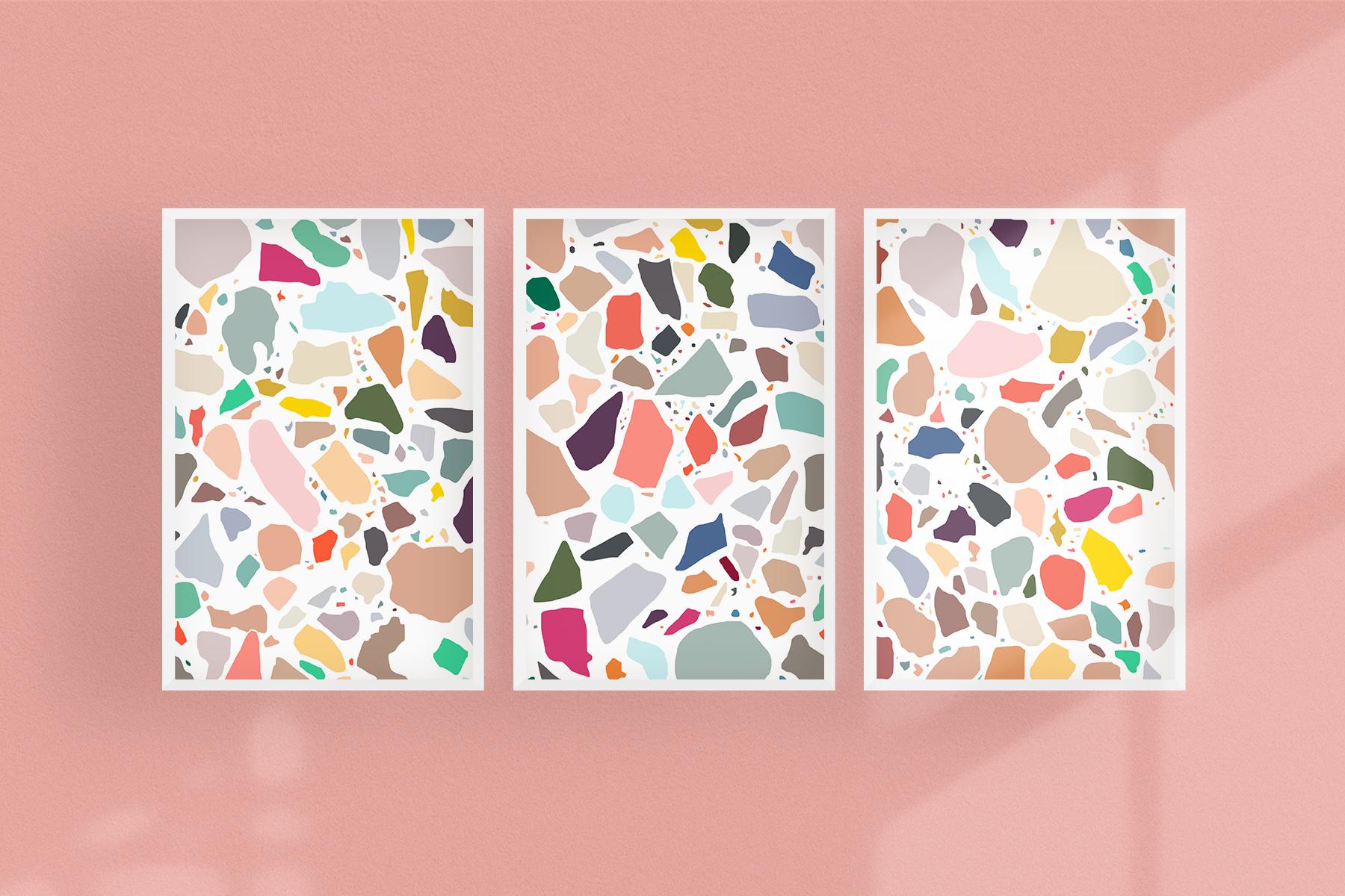 Set of 3 Terrazzo prints -