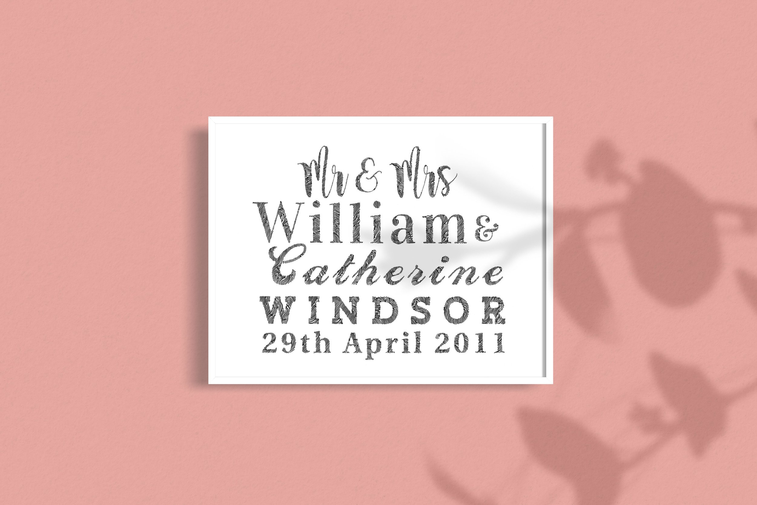 Personalised Wedding Gift Example William Catherine Royal Wedding