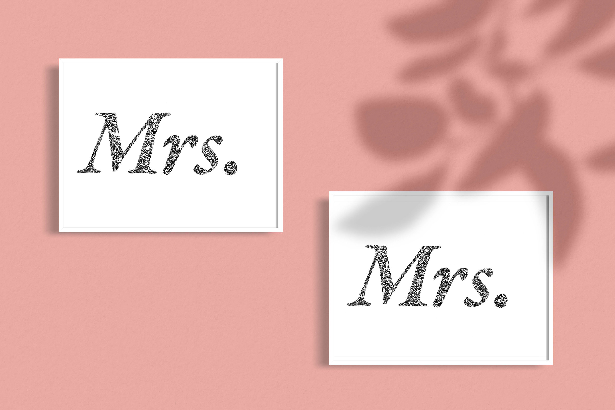 Mrs Mrs Gay wedding Illustrated Mix and Match typographic Wedding gift