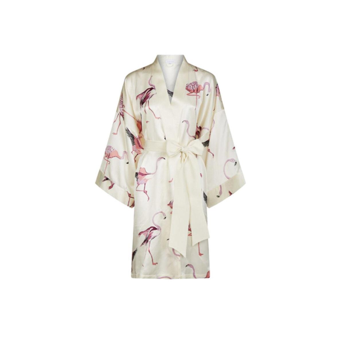 Olivia von Halle Flamingo Short Robe