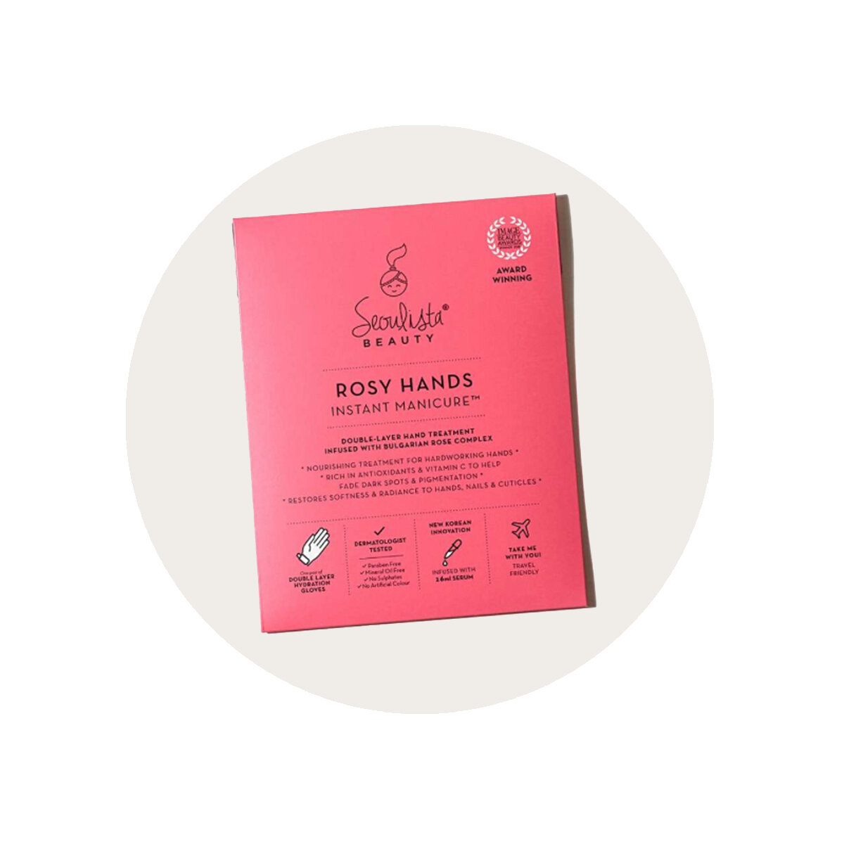 Seoulista Beauty Rosy Hands Instant Manicure Mask