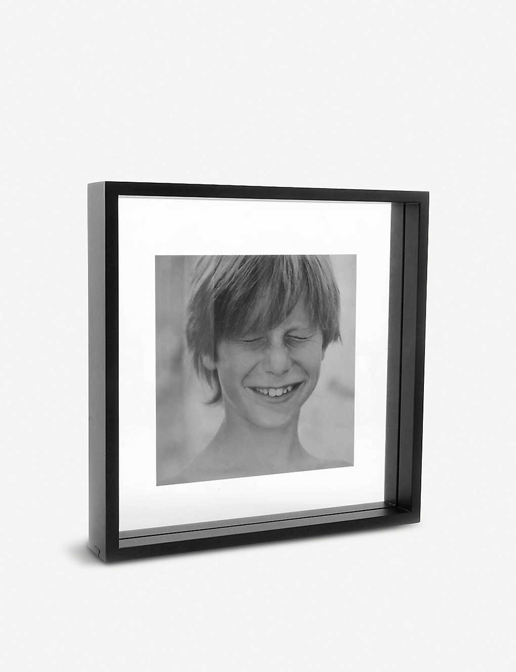 Square Floating Box wooden photo frame 32x32cm