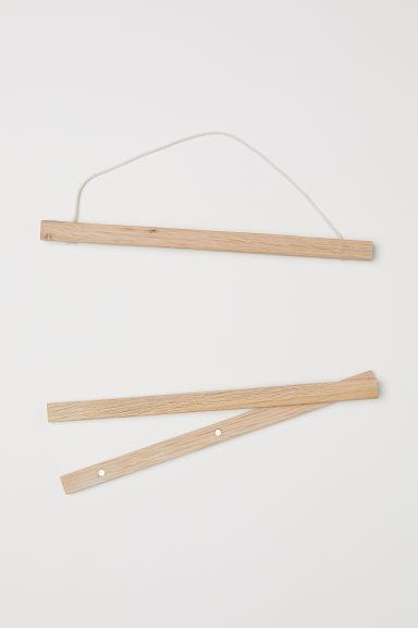 Wooden frame mount