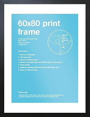 GB Eye Ltd FMSBA1BK Art Print Frame, Black, 80x 60x 0.1 cm