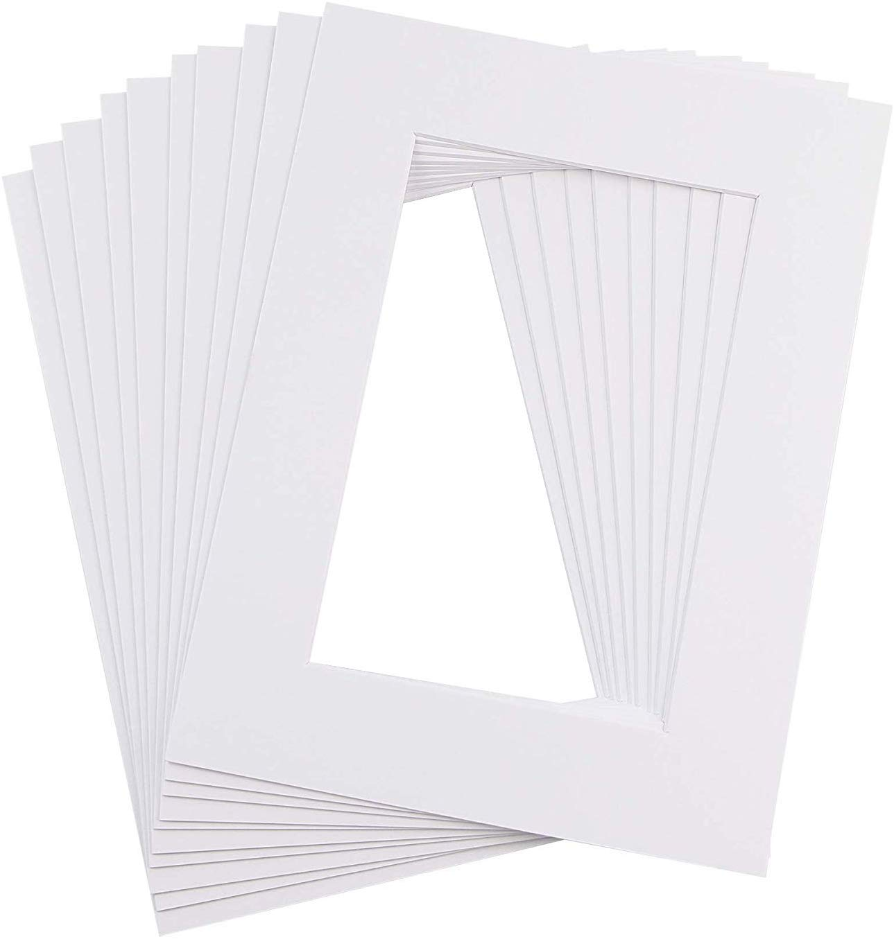 Ray & Chow White Picture Photo Frame Mounts Mats -Size: A3- For Image Size: A4- Pack of 10