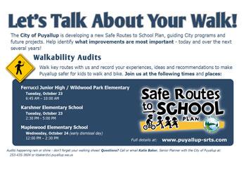 Walkability Audits flyer
