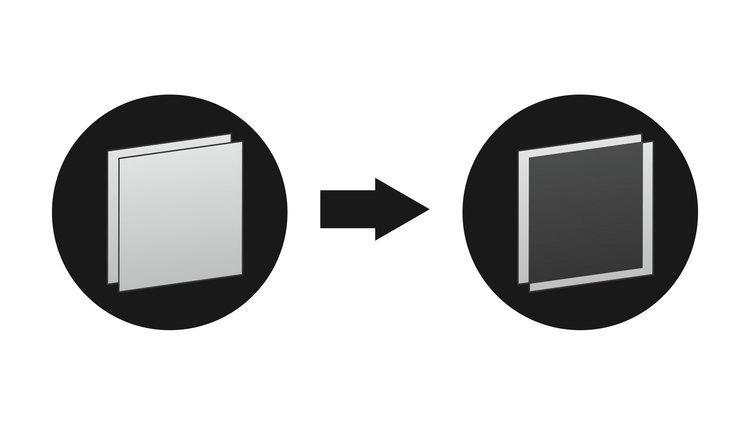 Cinefade adjustable light transmission filter