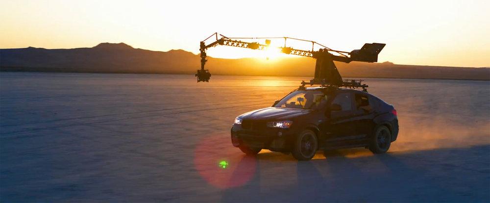 Cinefade Motorised Polariser on Russiam Arm