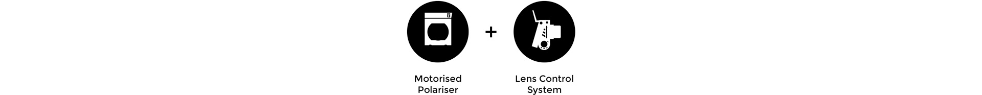Cinefade Application remote polariser Motorised Polariser, LCS