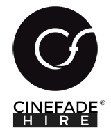 Cinefade hire, Keslow Camera and Arri Rental logos