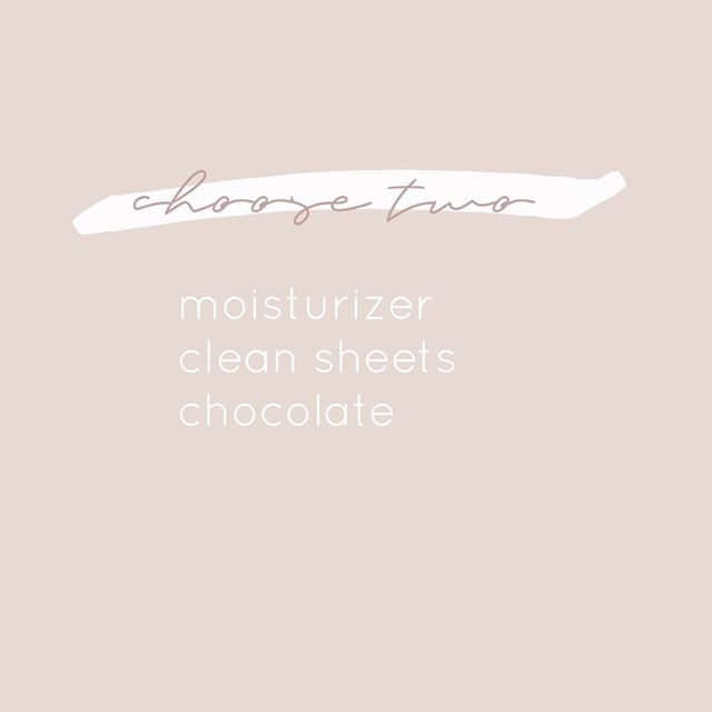 A little Sunday fun for you... what 2 would you pick?! 🧴🛏🍫 .. #pick 2! #beauty #skincare #esthetician #santarosa #loveyourself #makebeautybeautiful