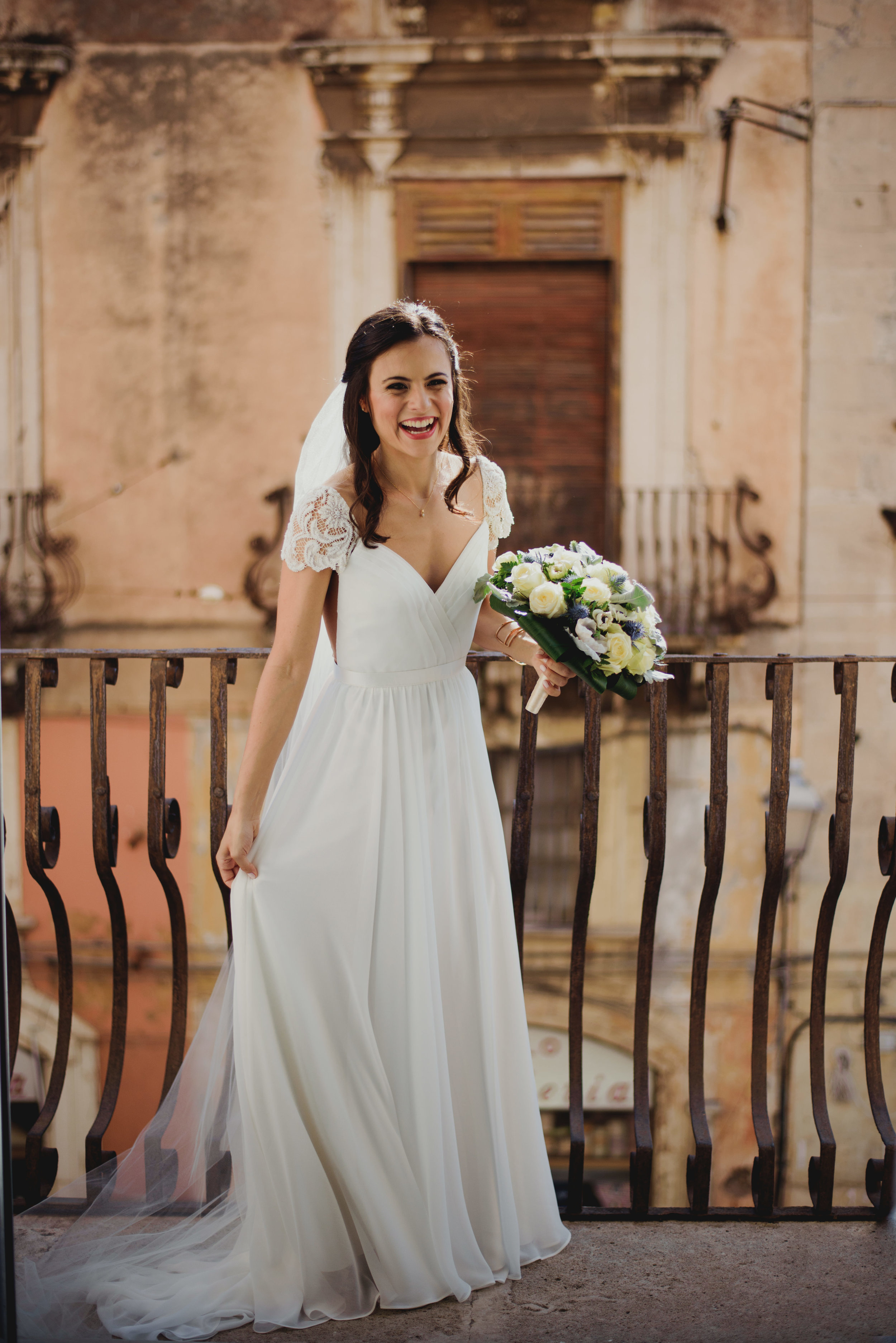 Heart Aflutter Bride Maureen, Sicily Wedding