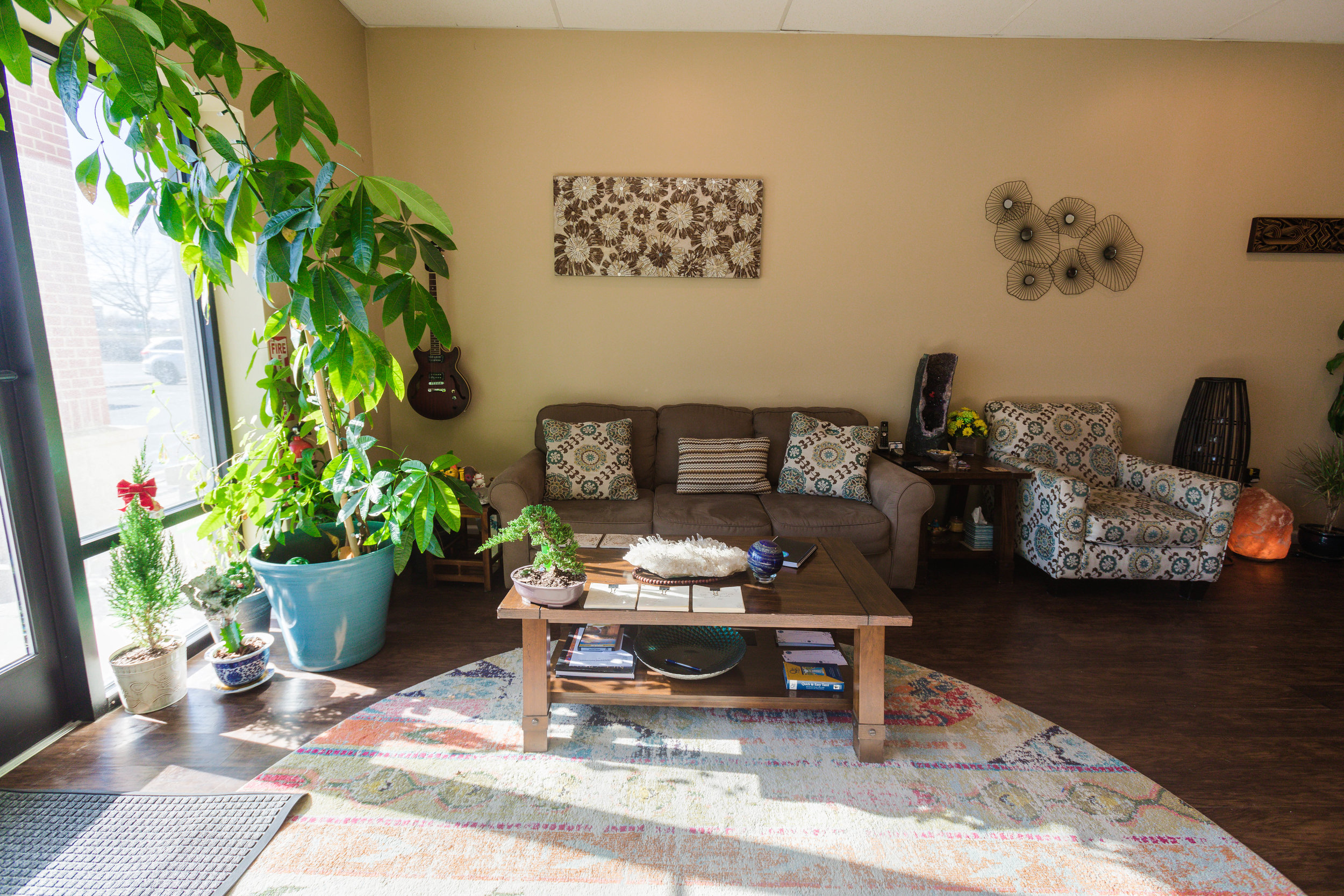 Our Comfortable, Natural Lobby at Float SNJ