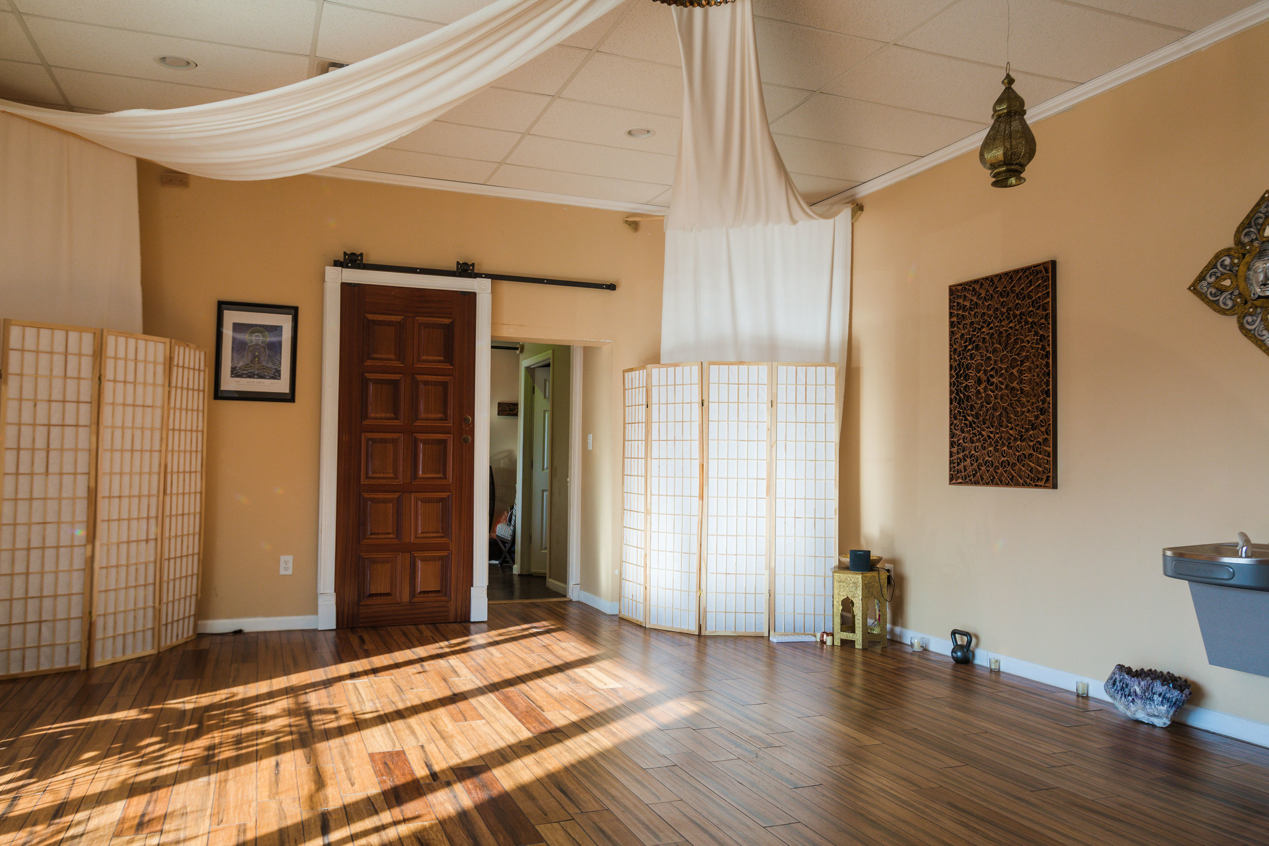A Better View of the Sunlight in the Great Room, for Yoga, Meditation, Workshops, and More
