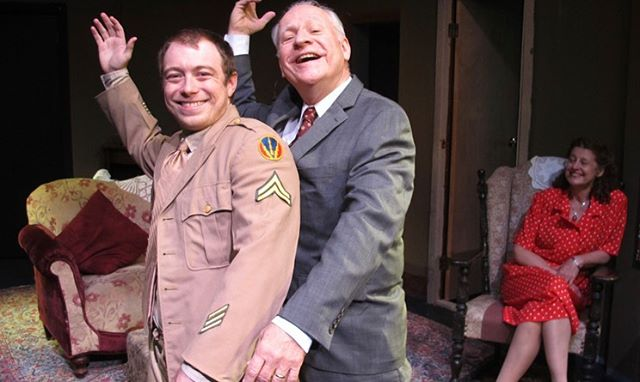 """Press photos for Bridge Street Theater's """"The Subject Was Roses"""". #drama #nyc #newyork #newyorkcity #theater #theatre #comedy #soldier #worldwar2 #ww2 #vaudeville #actor #acting #artist #dancing #singing"""
