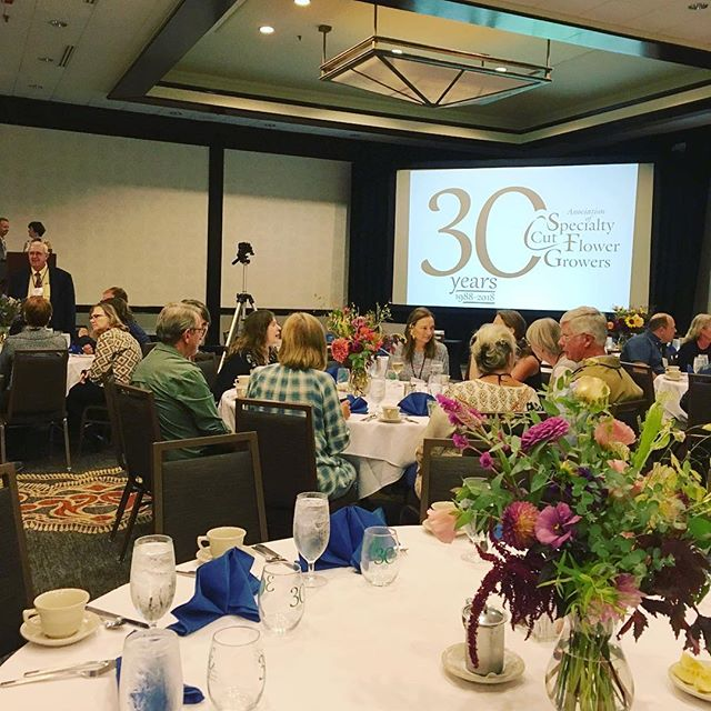 Very exciting past couple of days! My first conference officially repping Humble Umbel Farm (& also my first American Specialty Cut Flower Growers conference). It was so inspiring to meet & learn from many of my cut flower heroes. Now off to carry that excitement into new seed orders, website building, and soil prepping! #ascfg #ascfgturns30 #ascfgconference #flowerfarmer