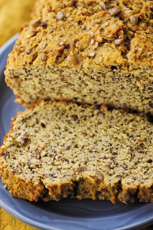 This delicious Gluten-Free Coconut Flour Bread is filled with flax, chia, sunflower and sesame seeds, is super easy to slice and store and has a most delicious flavor! #coconutflourbread #bread #coconutflour #glutenfree #easy #healthy #seeds #seeded #baking