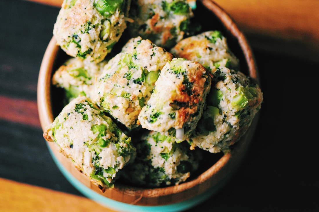 Super crispy, easy, and delicious Gluten-Free Baked Garlic Parmesan Broccoli Bites! These little bites are like little tater tots bursting with healthy flavors and ingredients! They make a great appetizer, snack or meal!