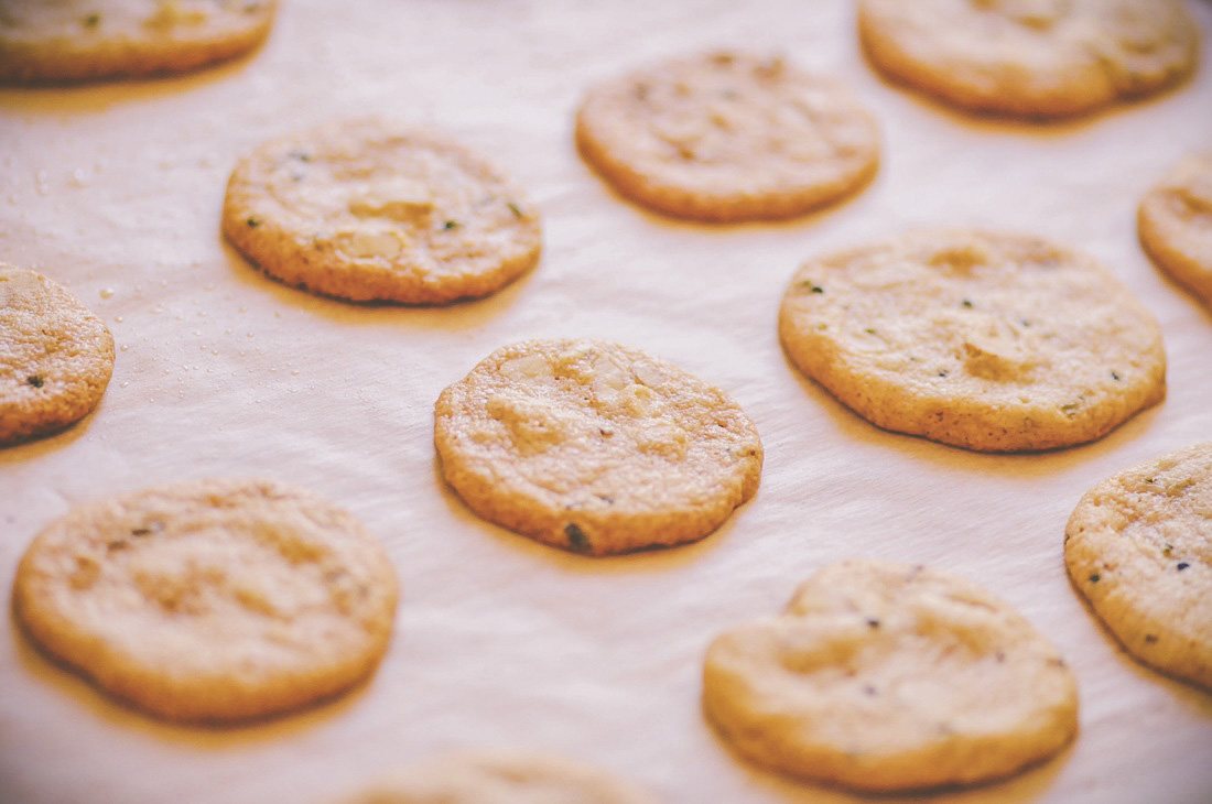 Easy, quick and delicious Lavender, Ginger and Walnut Shortbread cookies! These beautiful little cookies make a great accompaniment to afternoon tea! Gluten-free, vegan, and free of refined sugar. #veganshortbread #glutenfreeshortbreadcookies #lavendercookies #gingercookies #walnutcookies #lavendershortbreadcookies #glutenfree #teatime