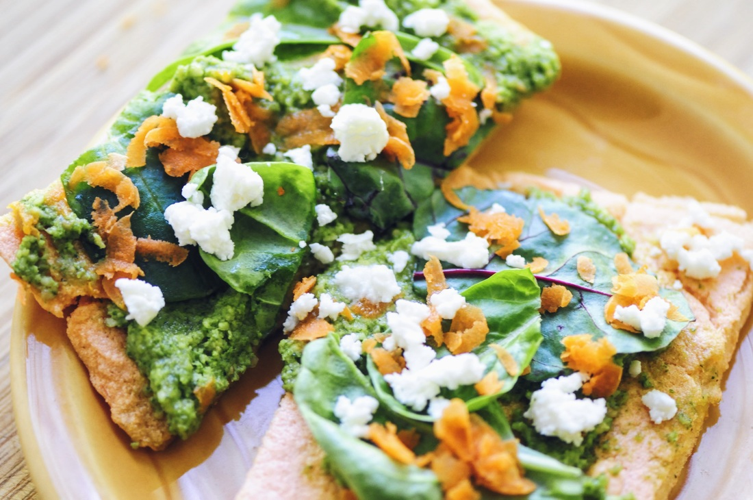 An easy, healthy and delicious high-fiber & high-protein gluten-free flatbread pizza crust made with just a few simple ingredients! #redlentilbread #redlentilpizzacrust #redlentils #flatbread #glutenfreeveganpizza #glutenfreepizza #veganpizzacrust #highproteinpizza #lentilpizza #easypizza #healthypizza