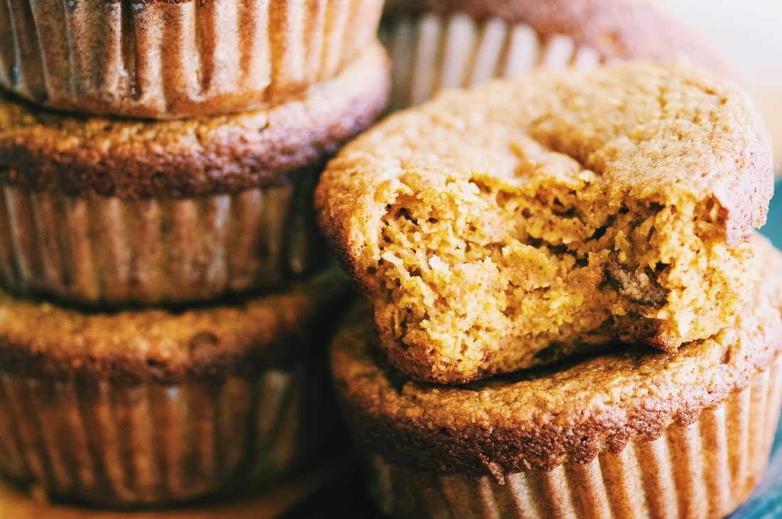Almond butter, almond flour, shredded coconut, and pumpkin combine in these positively scrumptious, beautiful and healthy gluten-free muffins — perfect for autumn, or any time of year! Free of refined sugars, too! You just can't go wrong. . . #glutenfreemuffins #pumpkinmuffins #glutenfreepumpkinmuffins #almondmuffins #coconutmuffins #glutenfreebaking #autumntreat #refinedsugarfree