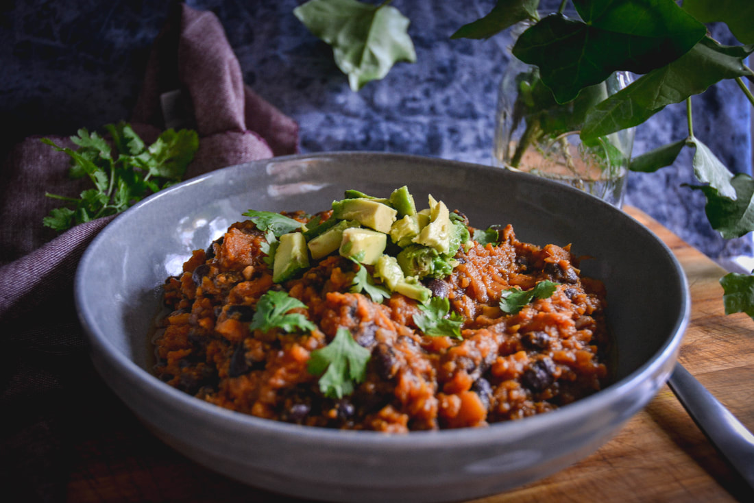 sweet potato chili by Daniela of Calm Eats