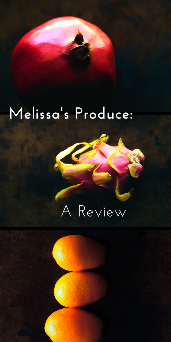 Review: Melissa's Produce Exotic and Tropical Fruit Sampler Box - A product review of Melissa's Produce's Exotic and Tropical Fruit Sampler Box. | #fruit #tropical #exotic #stilllife #box #gift #melissasproduce #review #productreview #persimmon #pomegranate #mango #pineapple #dragonfruit #kumquat #feijoa