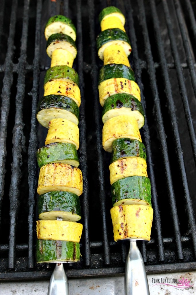 Zucchini and Squash Kabobs by Pink Fortitude -