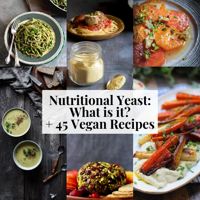 What is Nutritional Yeast? How to Use + Benefits + 45 Vegan Recipes #nutritionalyeast #nooch #veganrecipes #whatisnutritionalyeast #nutritionalyeastrecipes