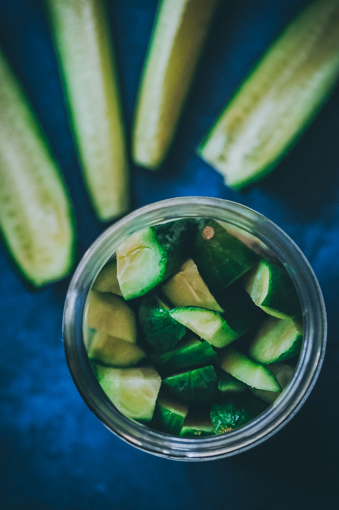 QUICK + EASY Spicy Refrigerator Pickles brimming with rich flavors and nutritional benefits! #pickles #easypickles #refrigeratorpickles #prebiotics #spicypickles #quickpickles