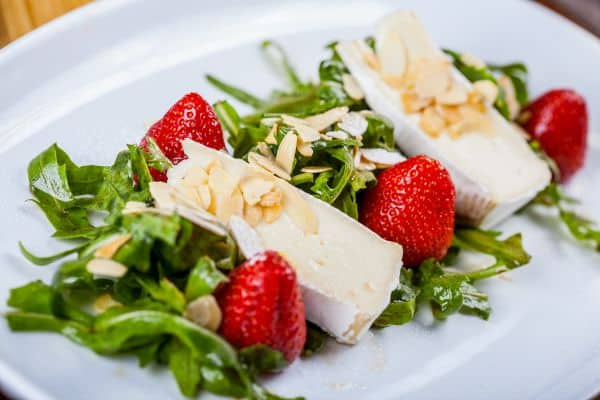 Dandelion Salad with Balsamic Pepper Strawberries by The Flying Couponer -
