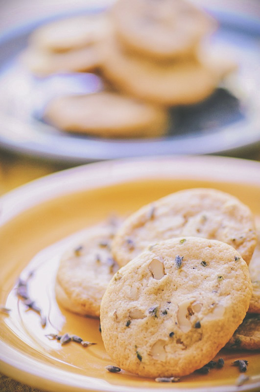Lavender, Ginger, & Walnut Mini Tea Time Shortbread Cookies by MOON and spoon and yum -