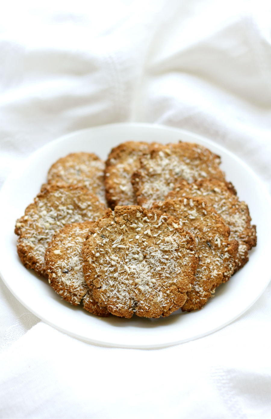 Lavender Coconut Tigernut Flour Cookies by Strength & Sunshine -
