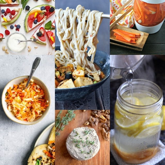 42 AMAZING Vegan & Gluten-Free Gut Healing Recipes, How to Improve Gut Health , Probiotic and Prebiotic Rich Foods, Health Benefits + MORE can all be found in this gut healing vegan recipe round-up! #guthealth #guthealing #veganprobiotics #prebiotics #fermentation #pickles #veganguthealth #glutenfreeprobiotics #leakygut #probioticrecipes #guthealingrecipes