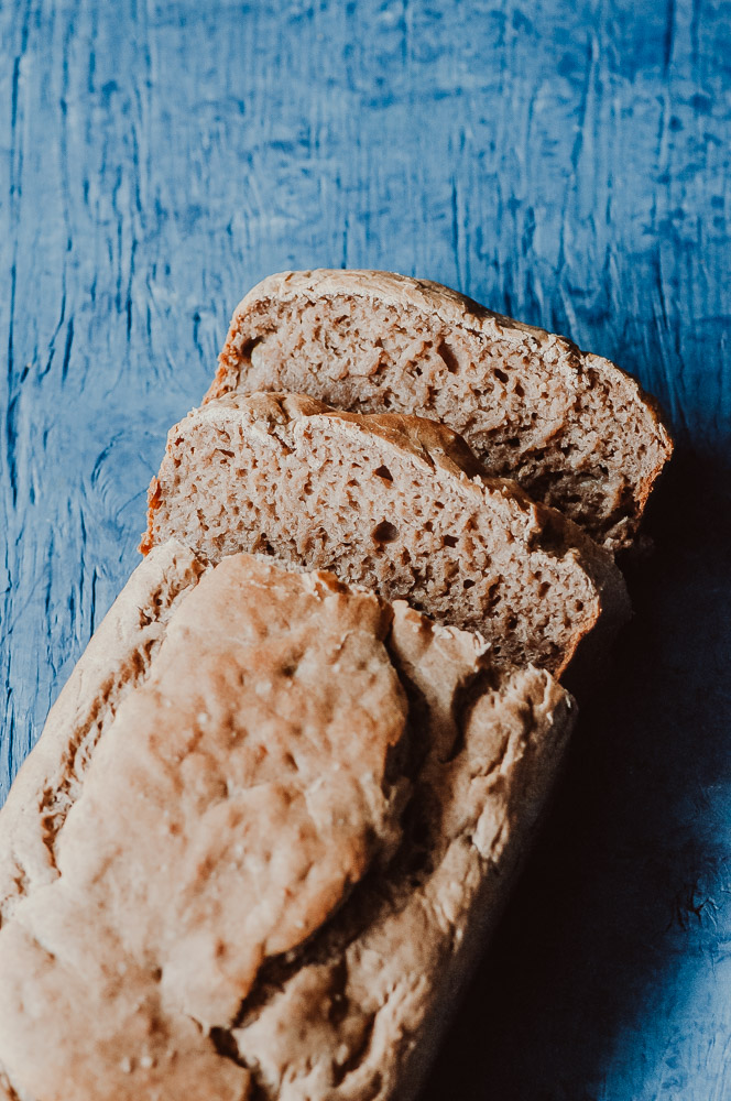 The BEST EASY Gluten-Free Vegan Banana Bread Loaf! This delicious and healthy banana bread is filled with simple, wholesome ingredients, requires only one bowl to make and has the most delightfully moist, springy and fluffy textures! It slices and stores beautifully, too! #glutenfreebananabread #veganbananabread #glutenfreeveganbananabread #easyveganbananabread #healthybananabread #buckwheatbananabread