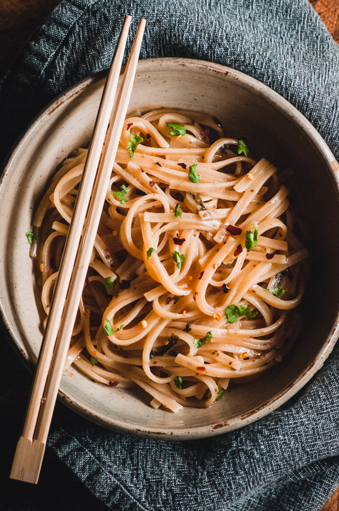 Instant Pot Sticky Maple Ginger Rice Noodles (Gluten-Free, Vegan) by MOON and spoon and yum -