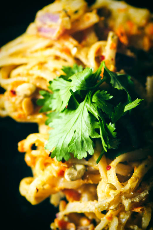 Spicy Pumpkin Seed Butter Pad Thai by MOON and spoon and yum -